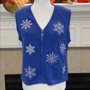NWT Merry & Bright Petite Ugly Christmas Vest